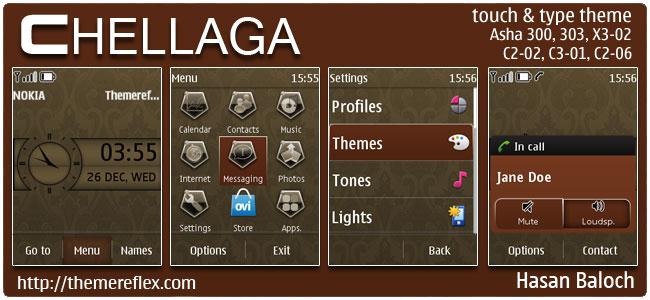 Chellaga Theme for Nokia Asha 300/303,X3-02, C2-03, C2-02, touch & type