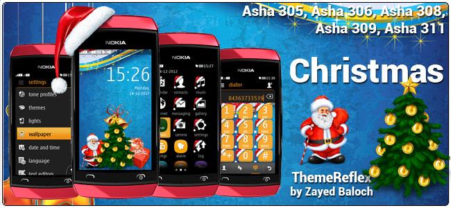 Christmas theme for Nokia Asha 305, Asha 306, Asha 308 & Asha 311