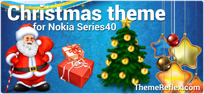Christmas theme for Nokia Series 40 128×160, 240×320, 320×240, touch & type