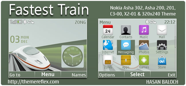 Fastest Train Theme for Nokia C3, X2-01 & Asha 200,201,302