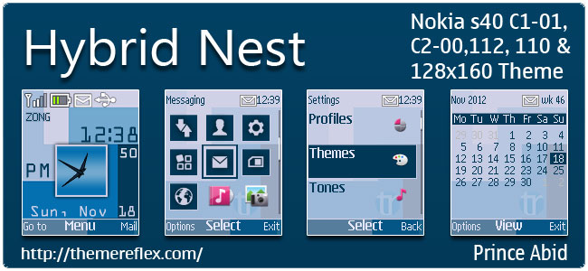 Hybrid Nest Theme for Nokia C1-01, C2-00, 110, 112 & 128×160