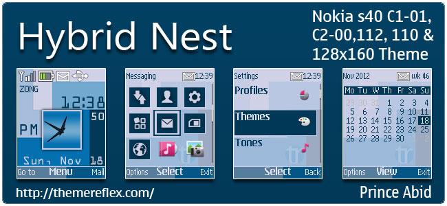 Hybrid Nest Theme for Nokia C1-01, C2-00, 110, 112 & 128×160