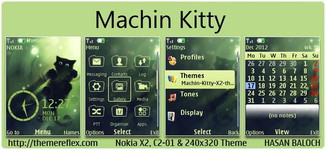 Machin Kitty Theme for Nokia X2-00, C2-01, 2700, X2-05 & 240×320