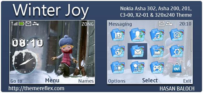 Winter Joy Theme for Nokia C3-00, X2-01 & Asha 200,201,302