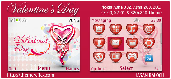 Special Theme: Valentine's Day Themes for Nokia Series 40 ...