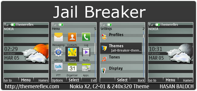 Jail Breaker live theme for Nokia X2-00, C2-01, 2700, X2-05 & 240×320 (Updated)