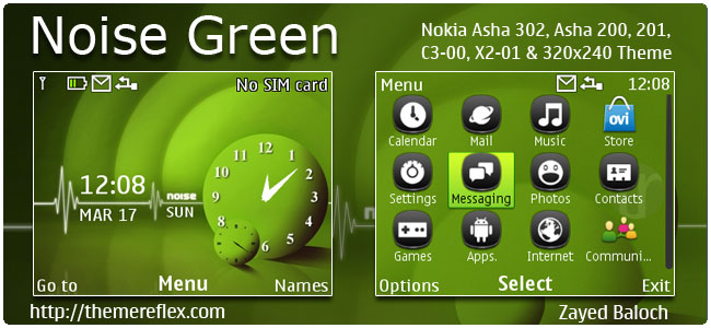 Noise Garden Theme for Nokia C3-00, X2-01, Asah 200,201,302