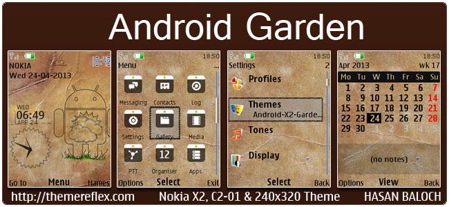 Android Garden Live Theme for Nokia X2-00, C2-01, X2-05, X3-00, 2700 & 240×320