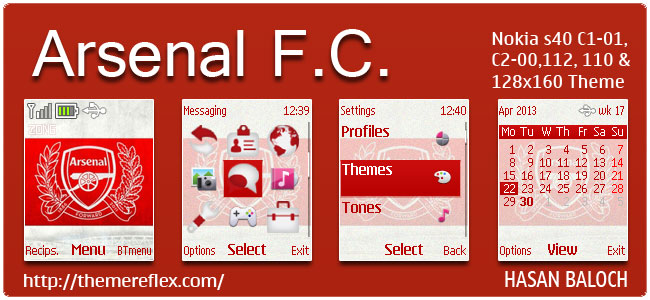 Requested Theme: Arsenal Theme for Nokia C1-01, C2-00, 110, 112 & 128×160
