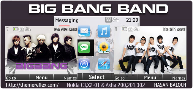 Requested Theme: Big Band Bang Animated Theme for Nokia C3-00, X2-01, Asha 200,201,302