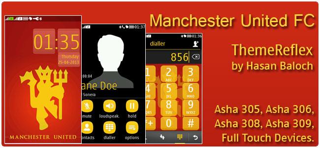 Manchester United FC theme for Nokia Asha 305, Asha 306, Asha 308, Asha 309, Asha 311
