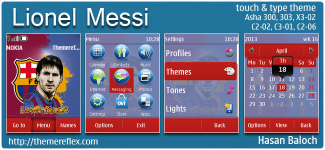 Requested Theme: Lionel Messi Theme for Nokia Asha 300/303, X3-02, C2-02, C2-06, touch & type