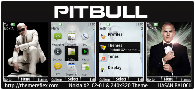 PitBull Rapper Animated Theme for Nokia X2-00, C2-01, X3-00, 2700, X2-05 & 240×320