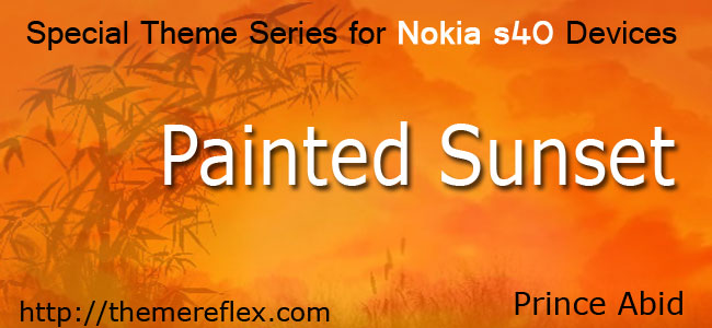 Painted Sunset Theme for Nokia series 40 devices