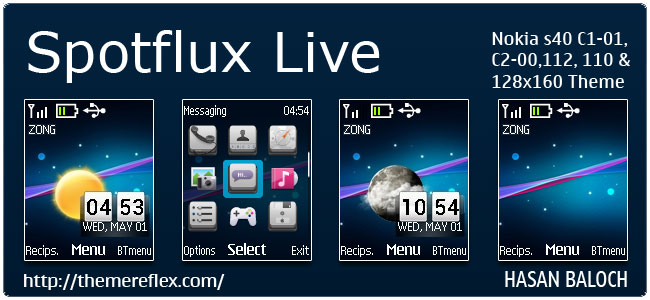650 x 300 jpeg 57kB, Spot Flux Live Theme for Nokia C1-01, C2-00, 2690 ...