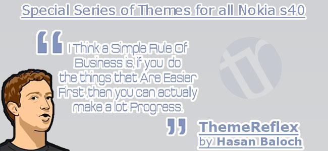 Mark Zuckerberg's Quote Theme for Nokia series 40 devices
