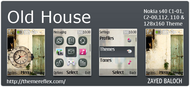Old House Theme for Nokia C1-01, C2-00, 110, 112 & 128×160
