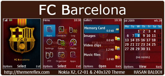 Requested Theme: FC Barcelona Theme for Nokia X2-00, C2-01, 2700, X2-05, X3-00 & 240×320