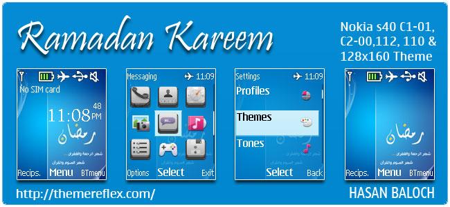 Ramadan Kareem Theme for Nokia C1-01, C2-00, 110, 112, 2690 & 128×160