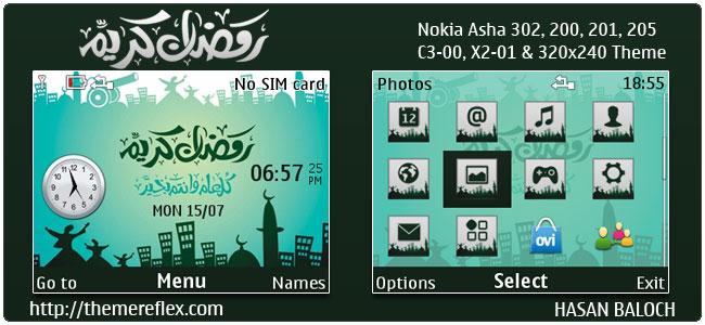 Ramadan Kareem Theme for Nokia C3-00, X2-01, 205, Asha 200,201,302