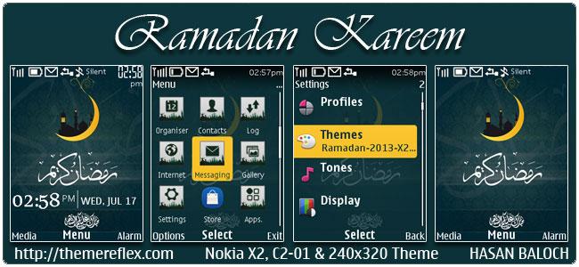 Ramadan Kareem Theme for Nokia X2-00, C2-01, 206, 2700, 6303i, X2-05, X3-00 & 240×320