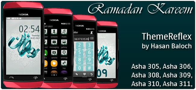 Ramadan Kareem Theme for Nokia Asha 305, Asha 306, Asha 308, Asha 309, Asha 310, Asha 311