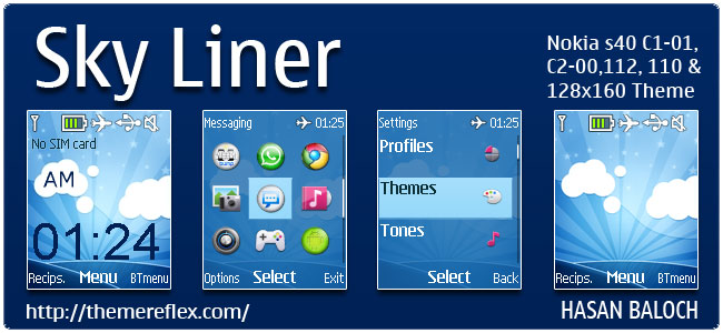 Sky Liner Theme for Nokia C1-01, C2-00, 110, 112, 2690 & 128×160