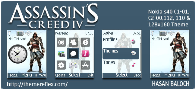Assassin's Creed IV – Black Flag Theme for Nokia C1-01, C2-00, 110, 112, 2690 & 128×160