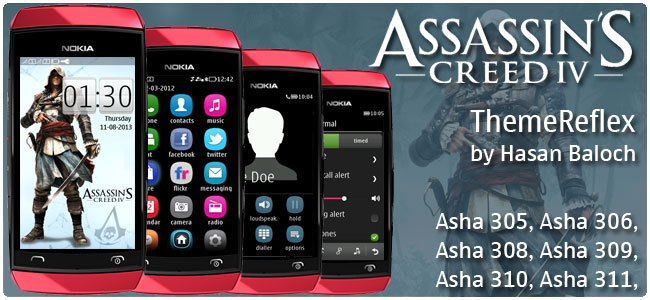 Assassin's Creed IV: Black Flag Theme for Nokia Asha 305, Asha 306, Asha 308, Asha 309, Asha 310, Asha 311