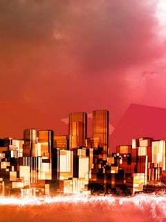 Digital-City-240x320-Wallpaper