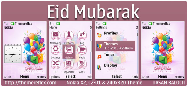 Eid Mubarak Theme for Nokia X2-00, C2-01, 2700, X3-00, X2-05, 6303i & 240×320