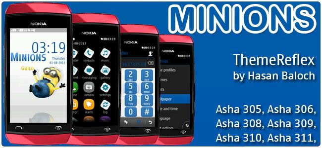 Minions Theme for Nokia Asha 305, Asha 306, Asha 308, Asha 309, Asha 310, Asha 311