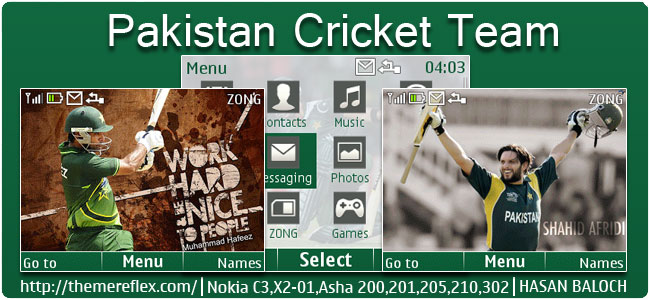 Requested Theme: Pakistan Cricket Team Animated Theme for Nokia C3-00, X2-01, Asha 200, 210, 205, 210, 302 & 320×240