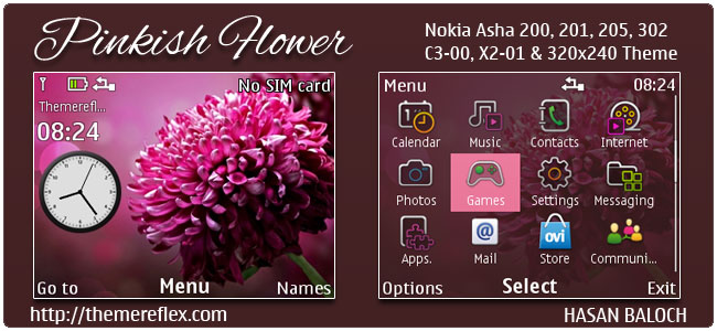Pinkish-Flower-C3-theme-by-hb