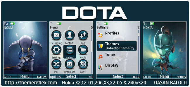 Requested Theme: DOTA Animated Theme for Nokia X2-00, X2-02, X2-05, C2-01, 206, 2700, 6303i & 240×320