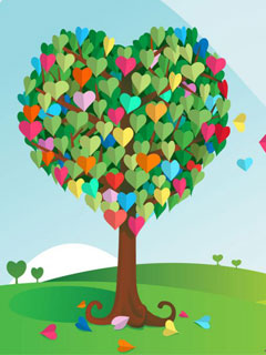 Love-Tree-240x320-Wallpaper