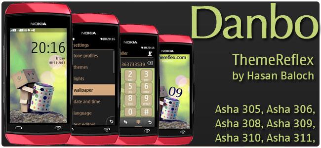 Danbo Theme for Nokia Asha 305, Asha 306, Asha 308, Asha 309, Asha 310, Asha 311