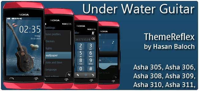 Underwater Guitar Nokia Asha 305, Asha 306, Asha 308, Asha 309, Asha  310, Asha 311