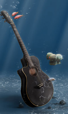 Underwater-Guitar-Wallpaper