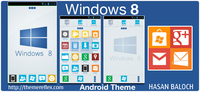 Windows 8 Theme for Samsung, HTC, Google and Other Android devices