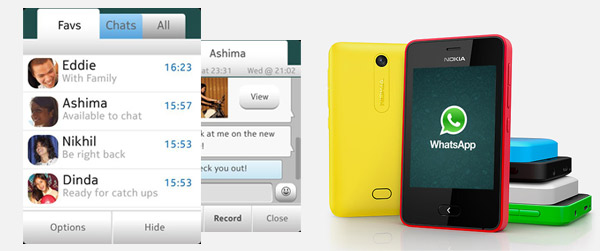 WhatsApp now available for Asha 501 on OTA software update
