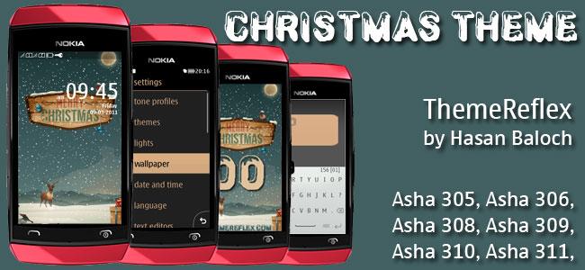 Special Theme: Christmas Theme for Nokia Asha 305, Asha 306, Asha 308, Asha 309, Asha 310, Asha 311 & full touch