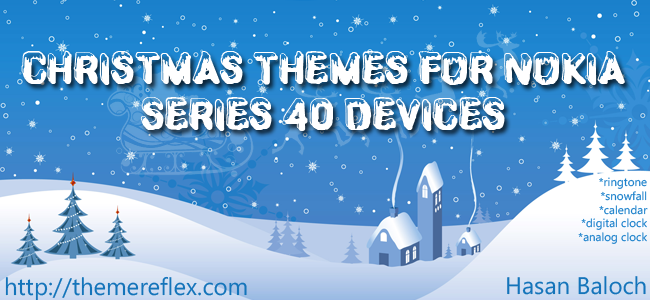 Christmas Themes for Nokia Series 40 240×320, 320×240, 128×160, touch & type devices