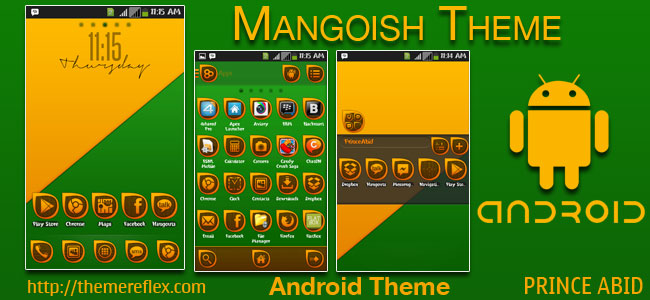 Mangoish Theme for Samsung, Samsung Galaxy, Google, Google Nexus, HTC and Other Android Devices
