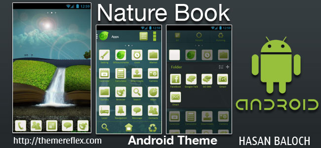Nature Book Theme for Samsung, Samsung Galaxy, Google, Google Nexus, HTC and Other Android Devices