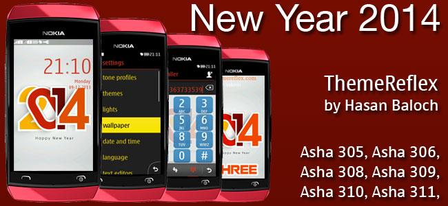 New Year 2014 Theme for Nokia Asha 305, Asha 306, Asha 308, Asha 309, Asha 310, Asha 311