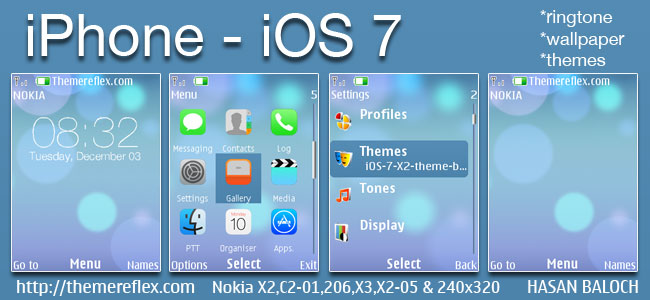 iPhone – iOS 7 theme for Nokia X2-00, X2-02, X2-05, X3-00