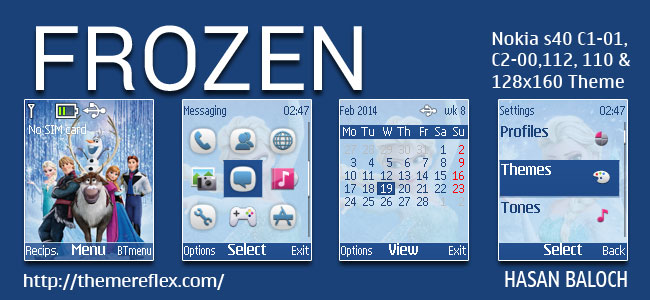 Requested: Frozen Theme for Nokia C1-01, C1-02, C2-00, 107, 108, 109, 110, 111, 112, 113, 2690 & 128×160 Devices