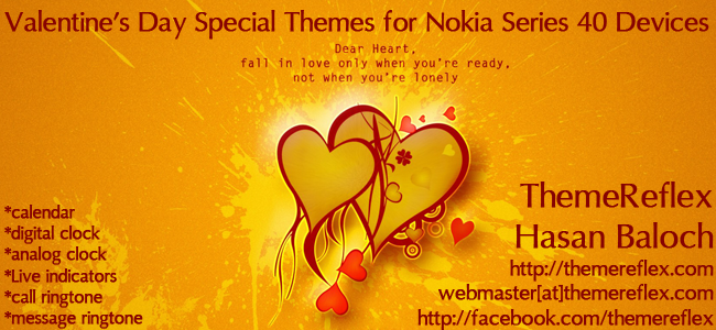 Valentine's Day Special Themes for Nokia Series 40 Devices