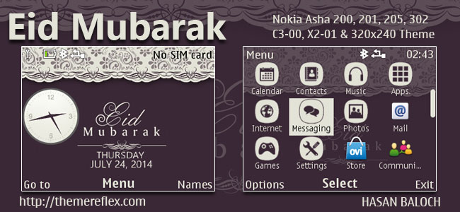Eid Mubarak Nokia C3 Themes